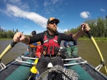 Dr. Palmer leading a raft trip on the Gulkana River.