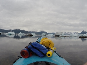 Columbia Glacier with Dr. Palmer leading Sea Kayak outings.